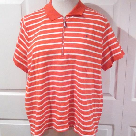 91721d4f4e580 Women s Tommy Hilfiger Striped Polo Plus Sizes